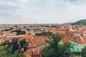 Letecký pohled na krásné Praha Staré město Panorama, Praha, Česká republika