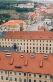 Photo aerial view of beautiful prague cityscape with ancient architecture