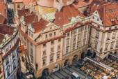 Praha, Česká republika - 23 července 2018: krásná architektura v old town square, Praha, Česká republika