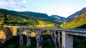 Tara most a krásné hory v Černé hoře