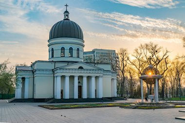 The Metropolitan Cathedral Nativity of the Lord, the main cathedral of the Moldovan Orthodox Church in Central Chisinau, Moldova.