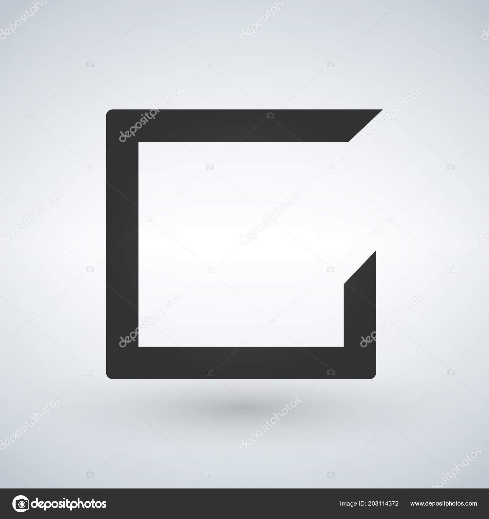 Vector Blank Box Or Frame Template Illustration Isolated On White Background Stockvektor