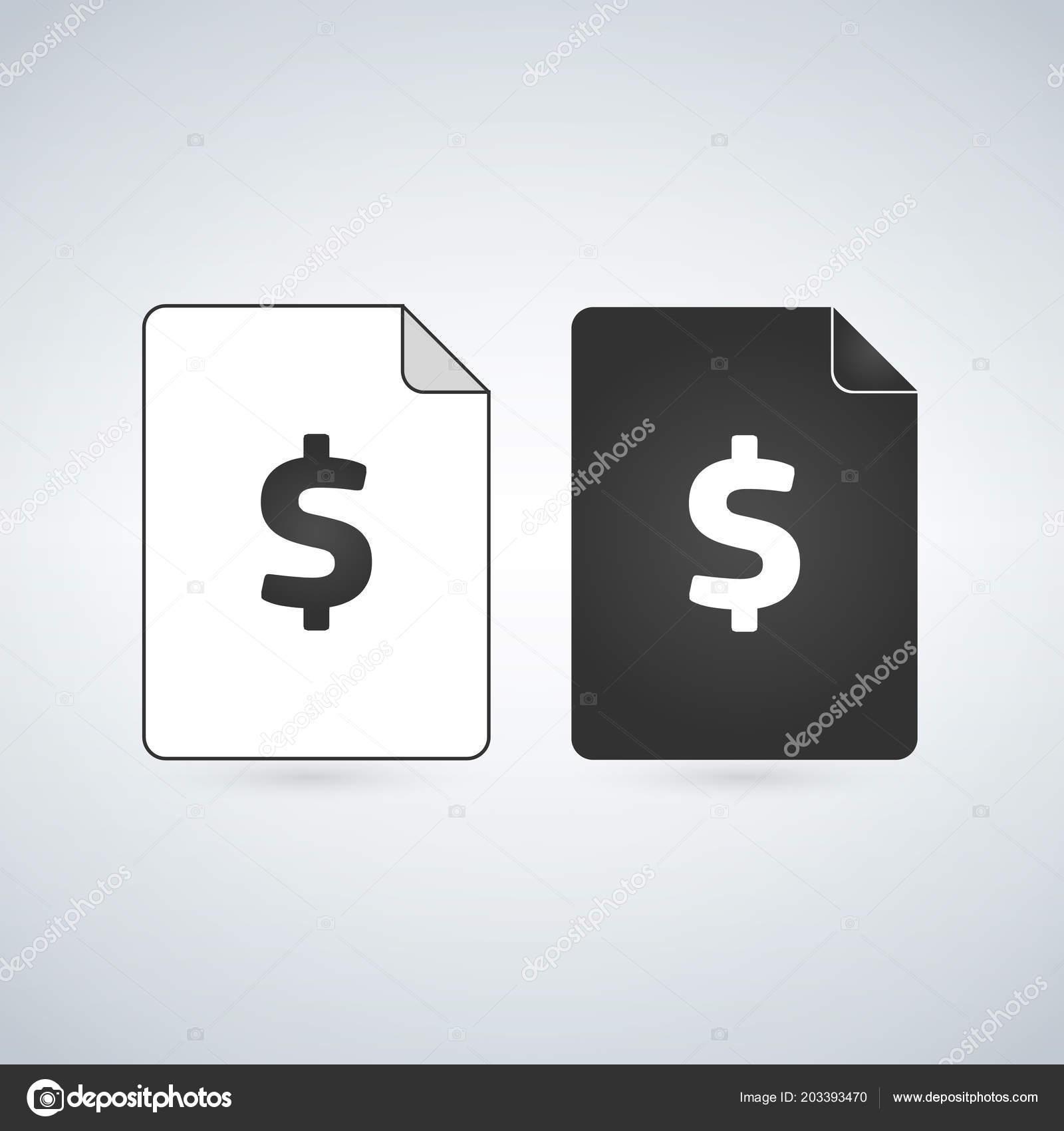 Geld Dokumentseite Dokument Symbol Rechnung Symbol Office