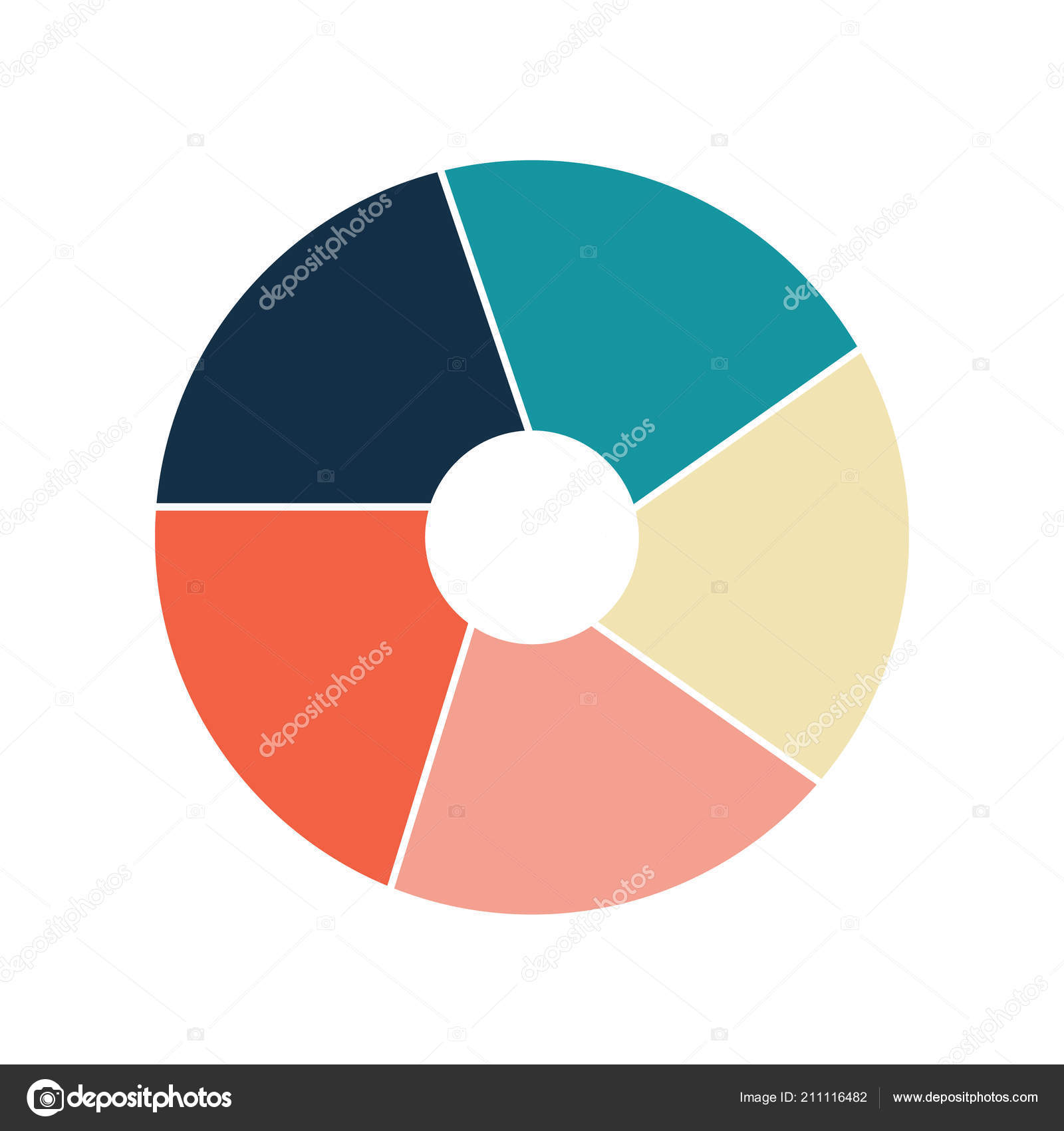 Vector Circle Infographic Template For Graphs Charts Diagrams Pie