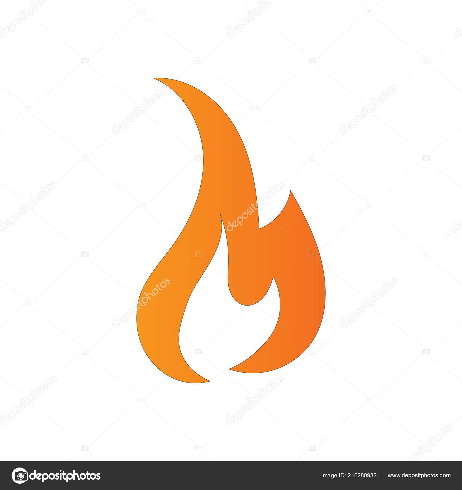 fire flames logo design template icon illustration gray background