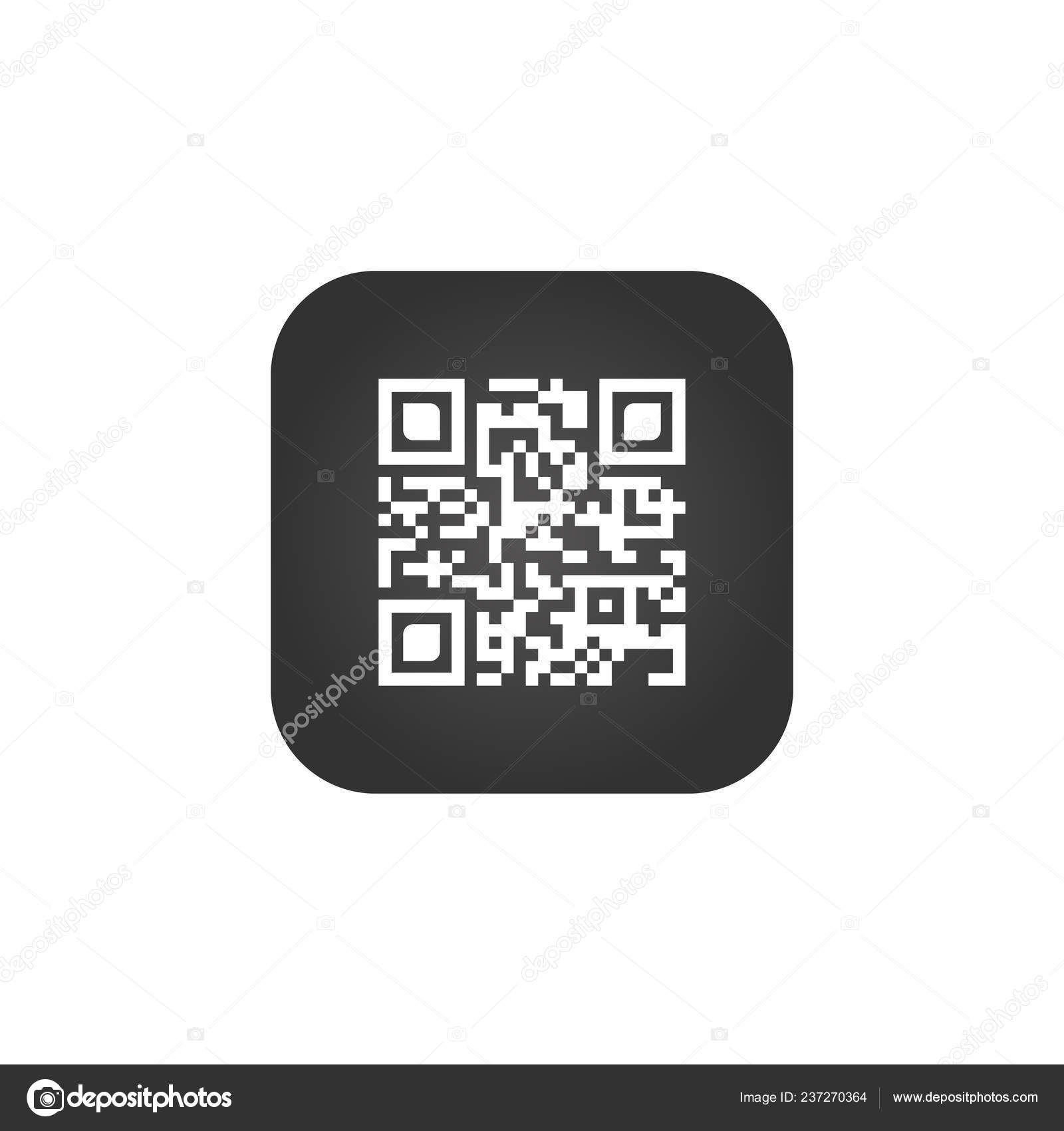 Code Sign Creative App Scan Code Symbol Square Button Vector