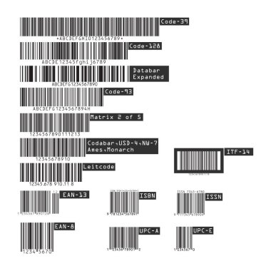 Business barcodes and QR codes isolated on transparent background. Vector