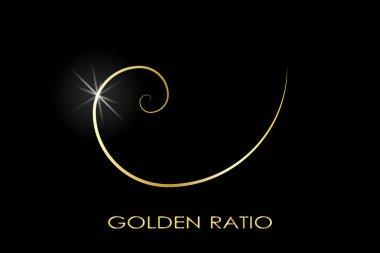 Golden ratio. Fibonacci number. Circles in golden proportion. Geometric shapes. Logo. Abstract vector background. Vector