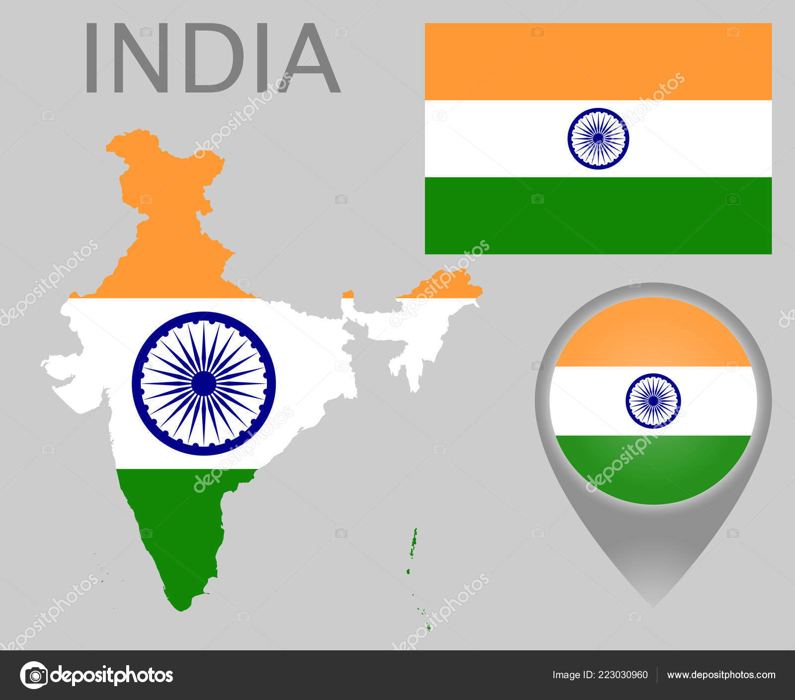 Colorful Flag Map Pointer Map India Colors Indian Flag High ... on indian print with flag, indian map with key, indian man with flag, india flag,