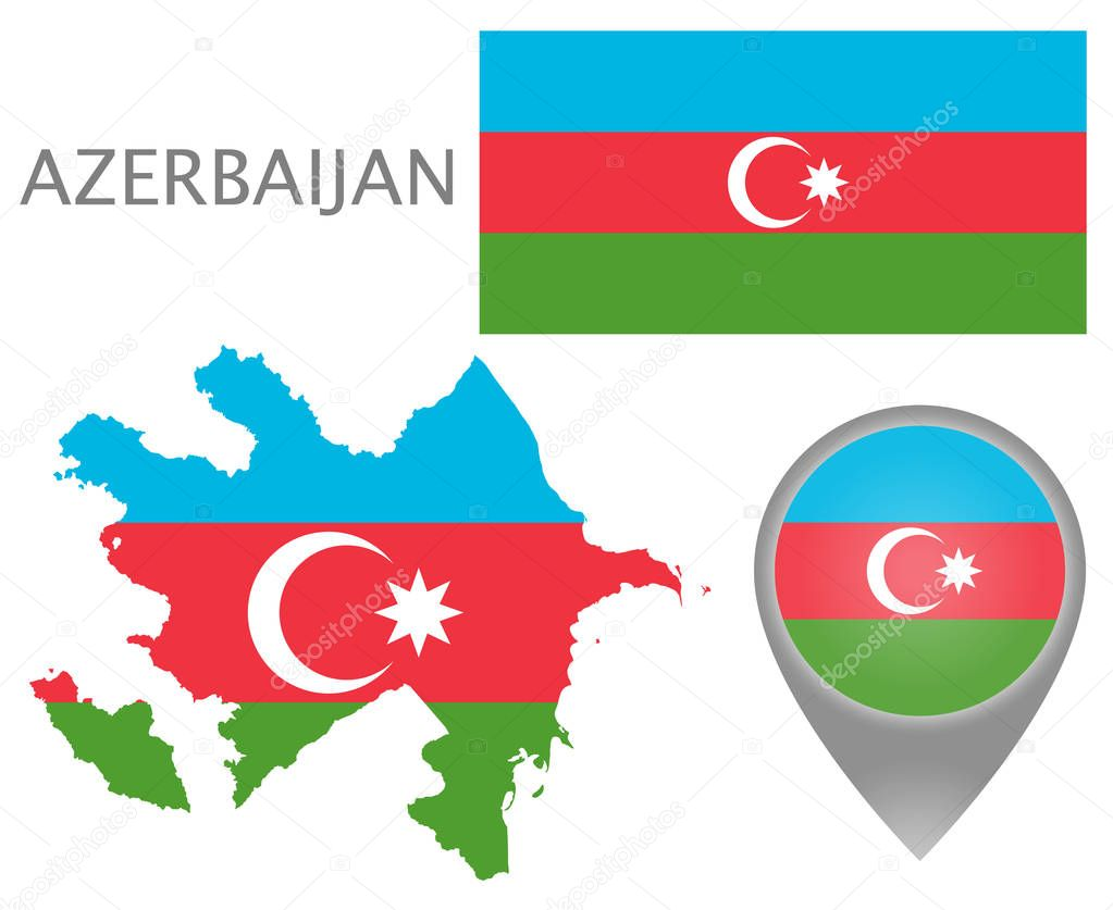 Colorful Flag Map Pointer And Map Of Azerbaijan In The Colors Of The Slovenian Flag High Detail Vector Illustration Premium Vector In Adobe Illustrator Ai Ai Format Encapsulated Postscript