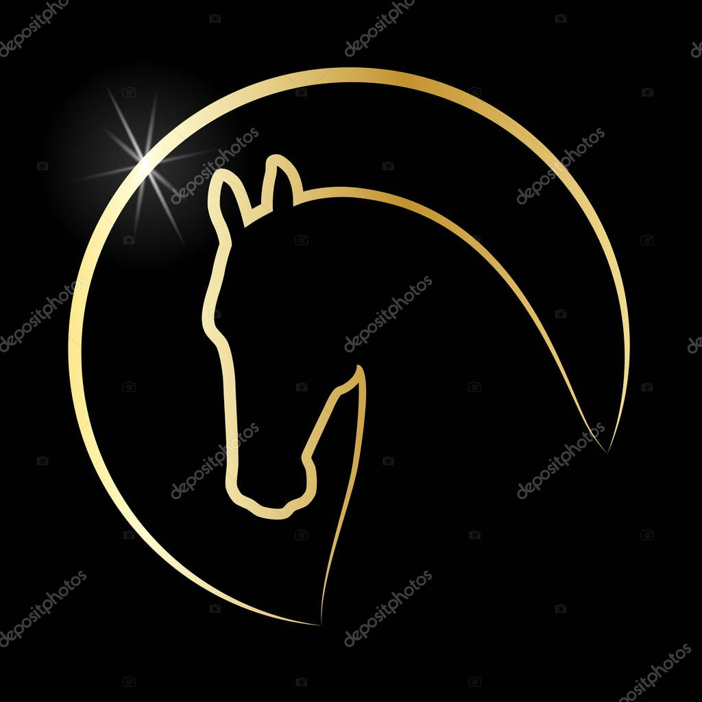 Head Horse Sign Horse Icon Isolated Silhouette Head Horse In The Circle On Black Background Logo Vector Illustration Premium Vector In Adobe Illustrator Ai Ai Format Encapsulated Postscript Eps Eps Format