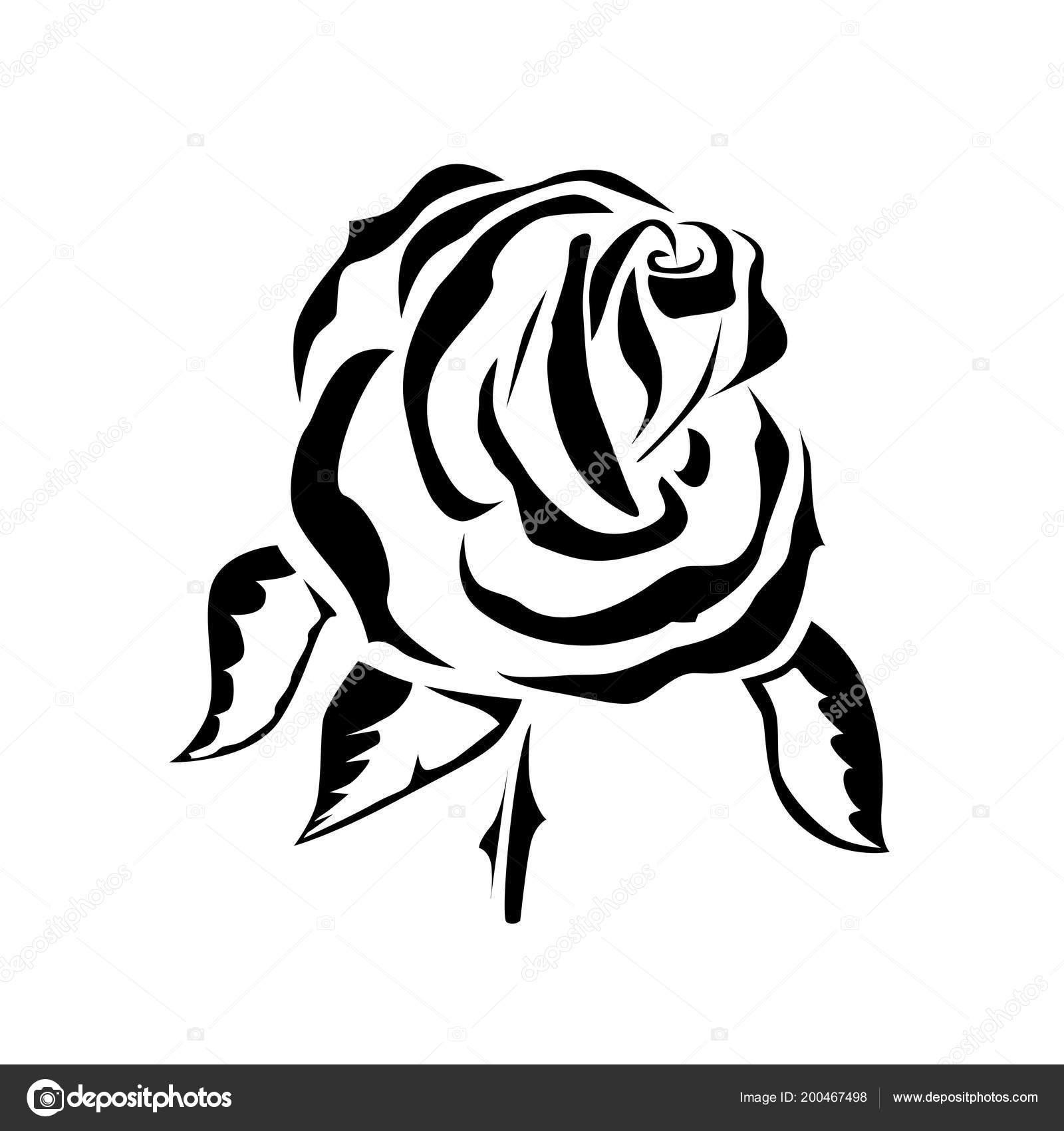 Vector Tekening Van Een Rose Tattoo Logo Stockvector Dobrik72