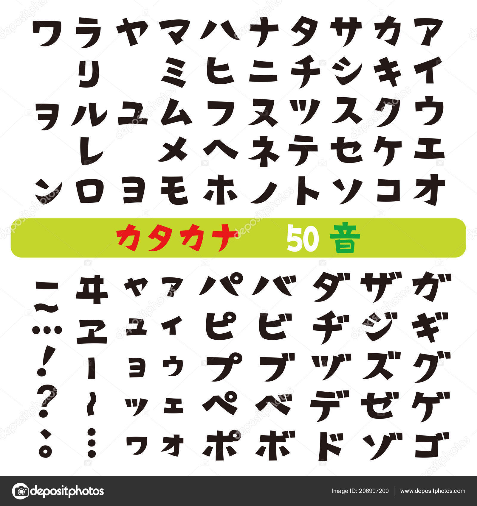 Japanese Katakana Fonts Vector Set — Stock Vector © niow