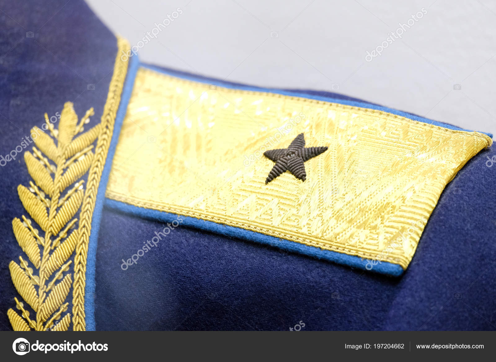 Shallow Depth Field Symbol Major General Ussr Pogon Obmudirovanii