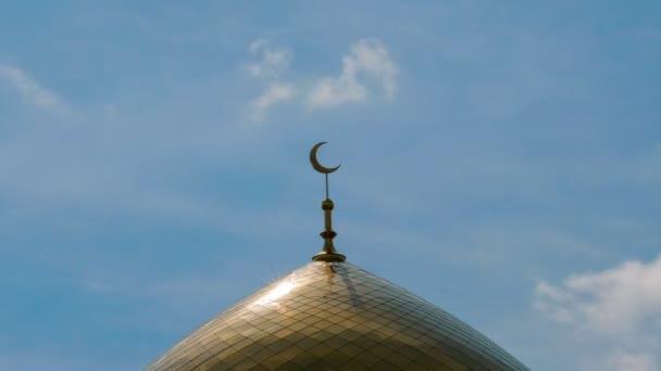 Sunlight Minaret Mosque Symbol Islamic Religion Golden Crescent
