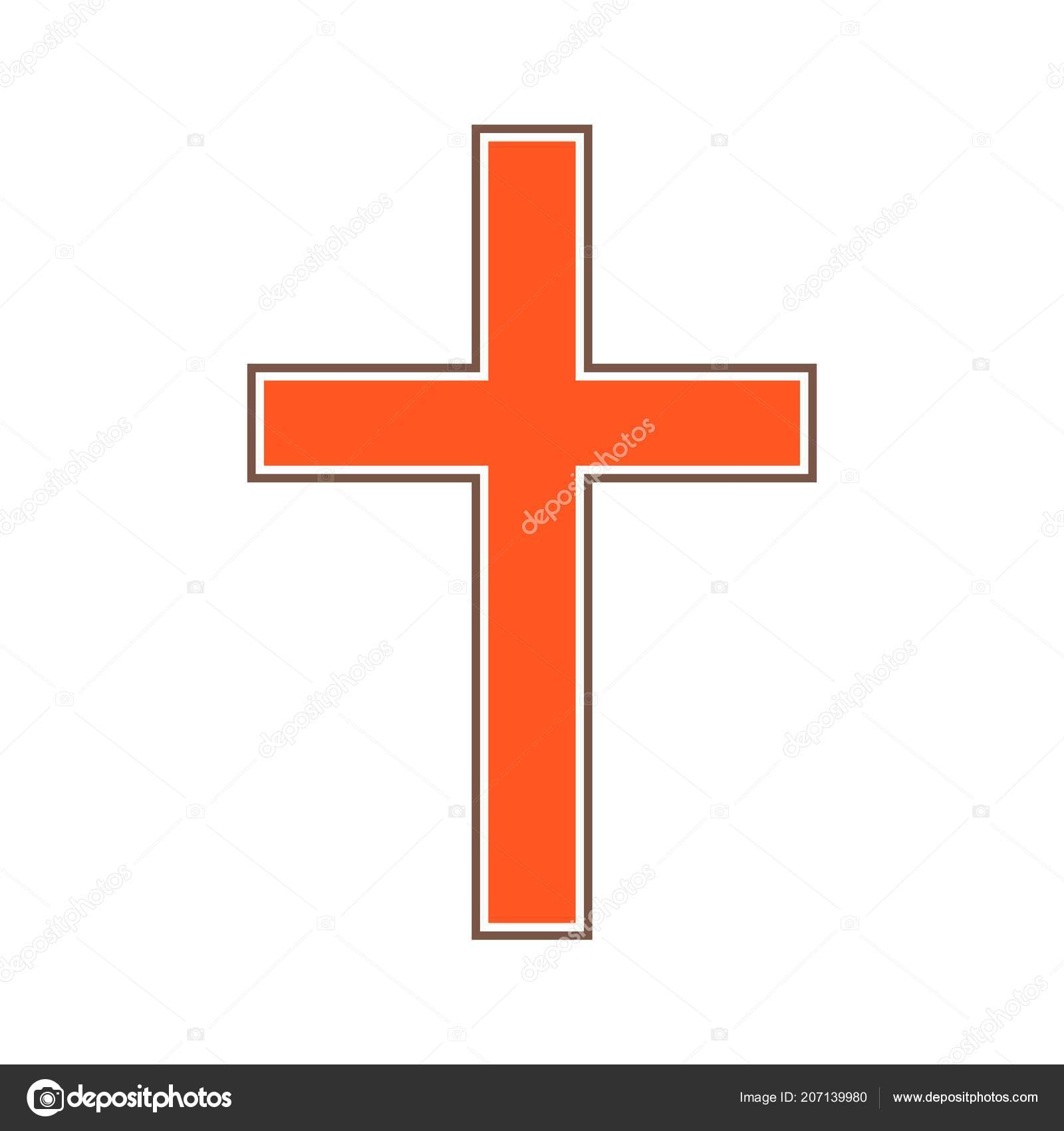 Vector Abstract Christian Cross Symbol Simple Desig