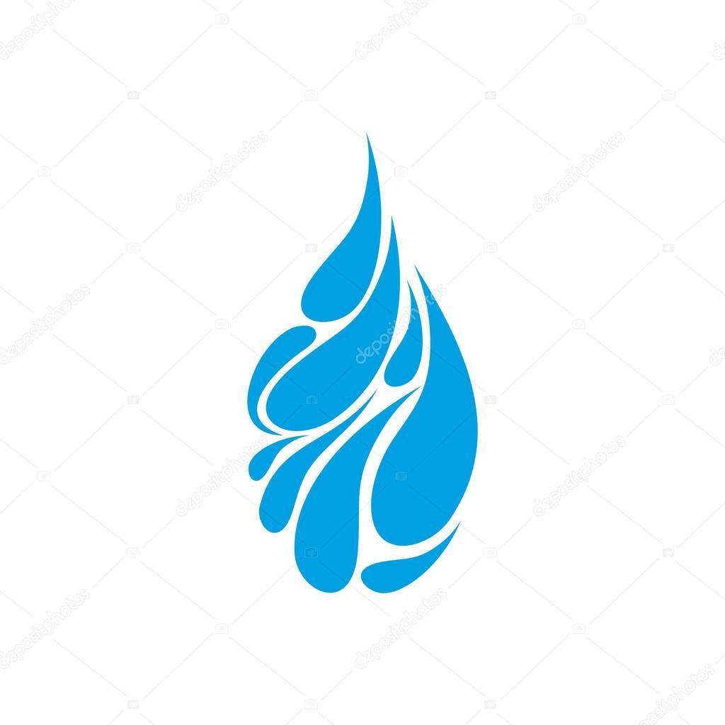 Water blue drop logo