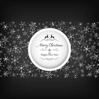 Black Christmas template included die-cut one middle and white snowflake