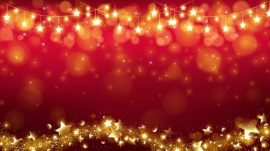 abstract Christmas background with glowing stars are dropping the magic twinkle and bottom including stardust flowing as in a wavy line