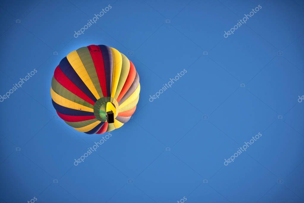 Beautiful Hot Air Balloon Against a Deep Blue Sky