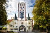 landsberg am lech - bayertor, historisches Stadttor. Bayern, Deutschland.