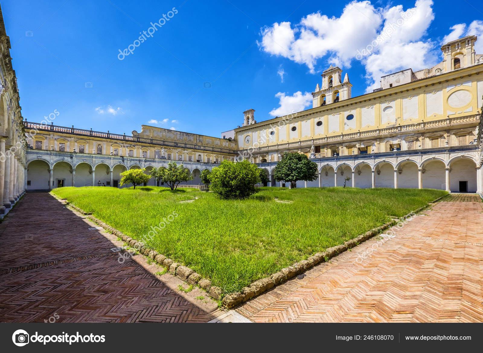 Beautiful Cloister Gardens San Martino Certosa San Martino Chartreuse Saint Stock Photo C Massimosanti 246108070