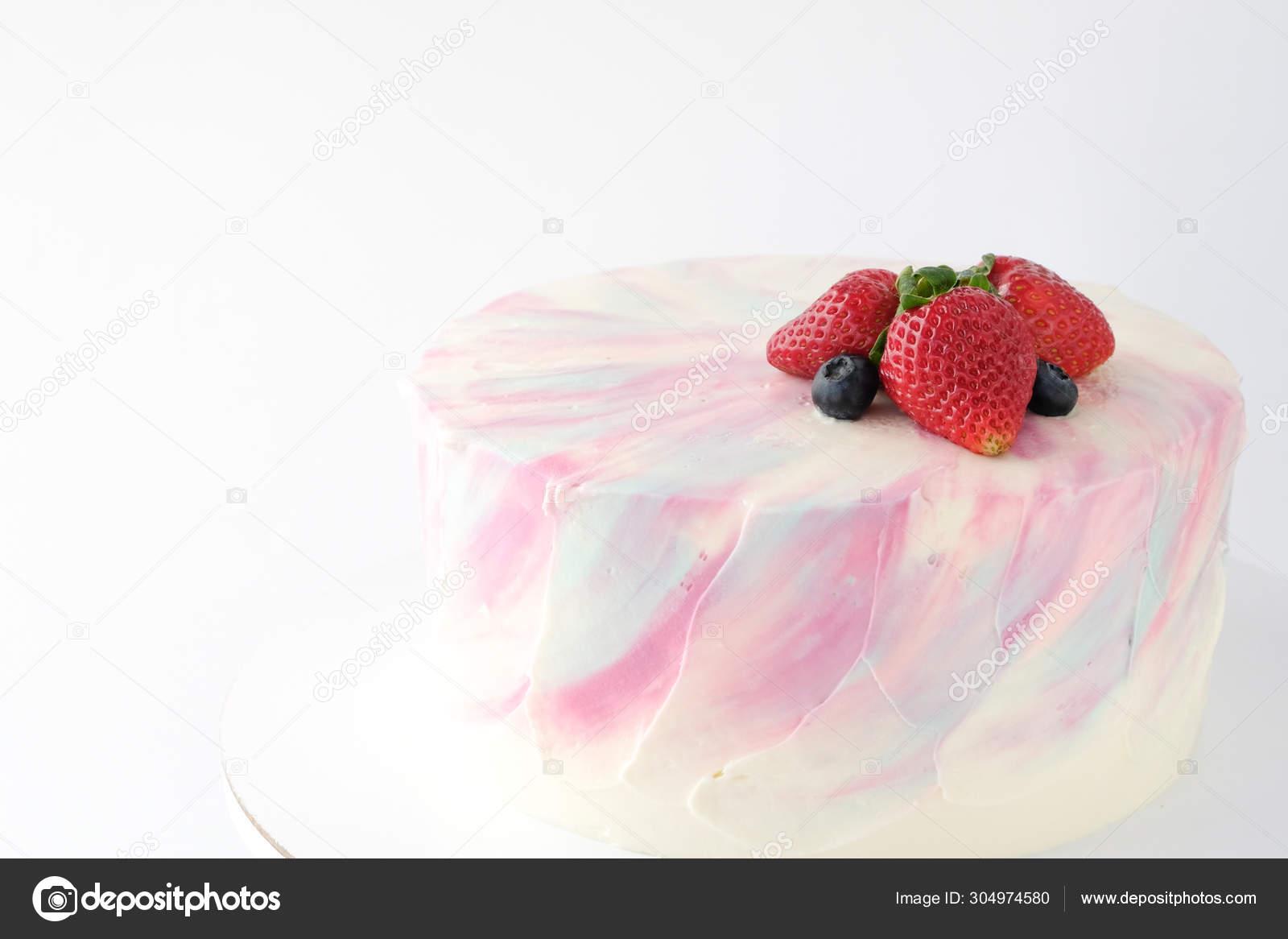 Amazing Birthday Cake Strawberries Blueberries Blackberry White Background Personalised Birthday Cards Petedlily Jamesorg