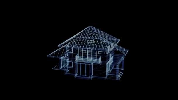 Hologram rotující domu