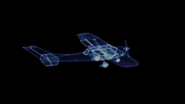 Hologram vrtulové letadlo