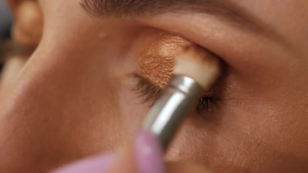 Professional makes up of right eye