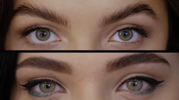 Collage aus Augen