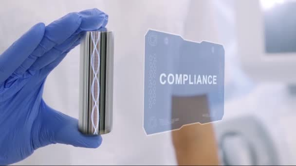 Hand in glove with hologram Compliance