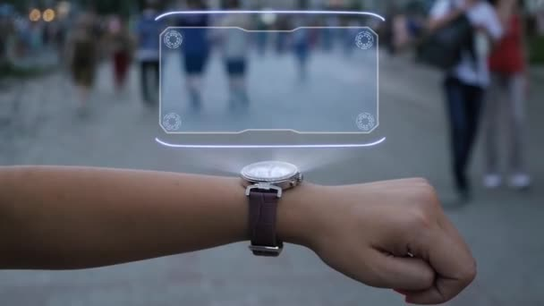 Female hand with hologram Compliance