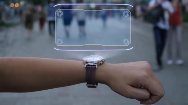 Female hand with hologram Chance