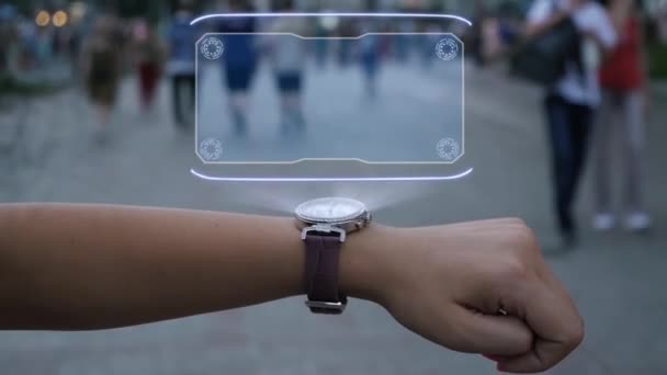 Female hand with hologram Scalability