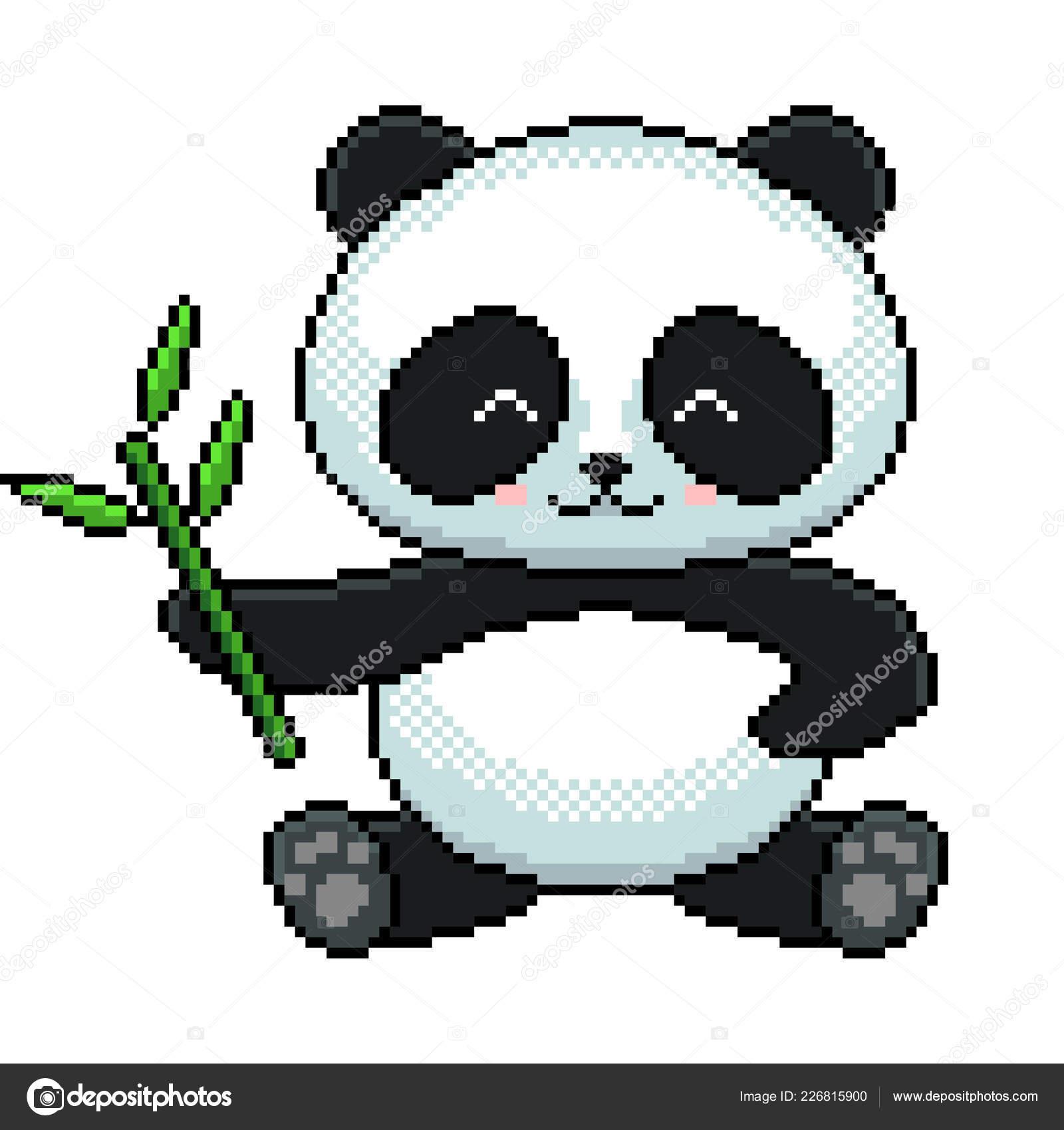 Pixel Art Cute Panda Pixel Art Cute Panda Detailed