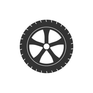 Vector illustration, flat design. Transport tire icon