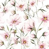 varrat nélküli virágmintás, akvarell