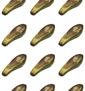 Pop art pattern with ripe avocado slices
