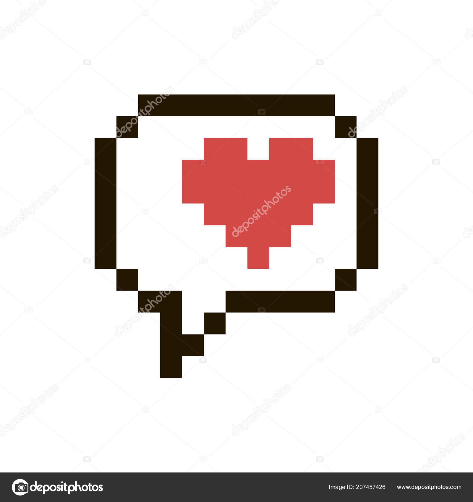 Vecteur Coeur De Pixel Image Vectorielle Cuppuccino