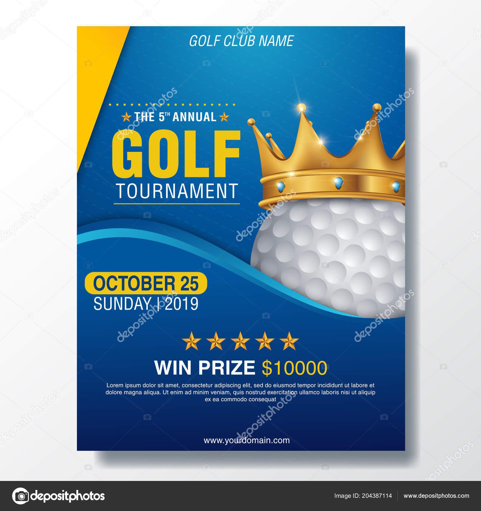golf tournament poster template flyer design stock vector