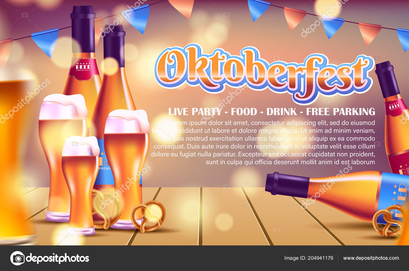 advertisement poster template oktoberfest beer party different