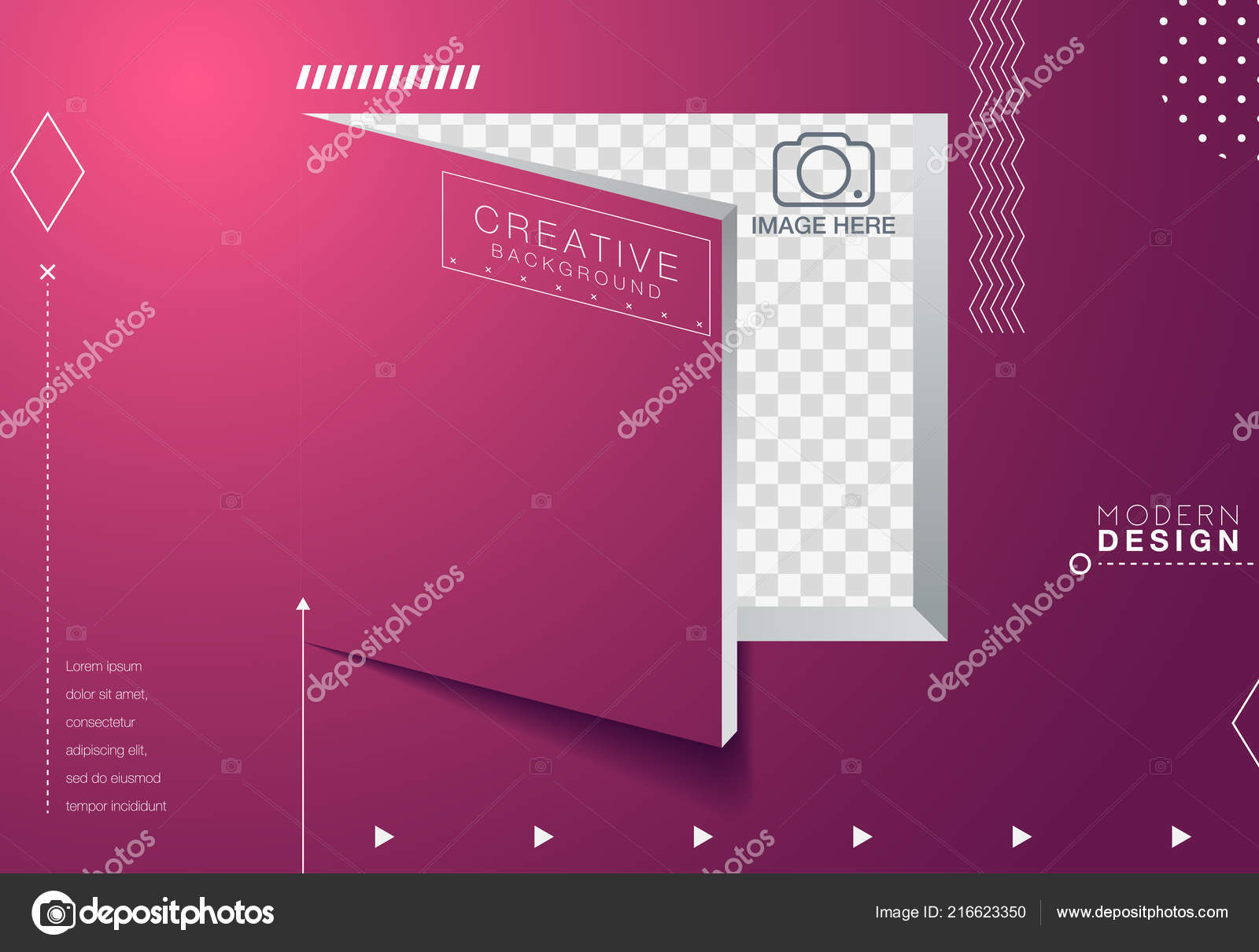 vector design template shapes trendy bright colors vetores de