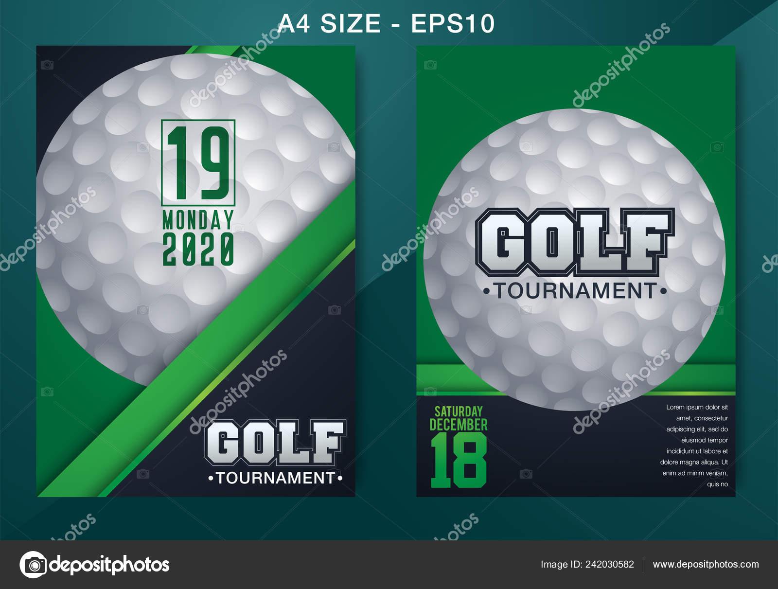 Golf Club Competition Tournament Template Poster Banner Vector Design Vector Stock Vector C Temynovian 242030582