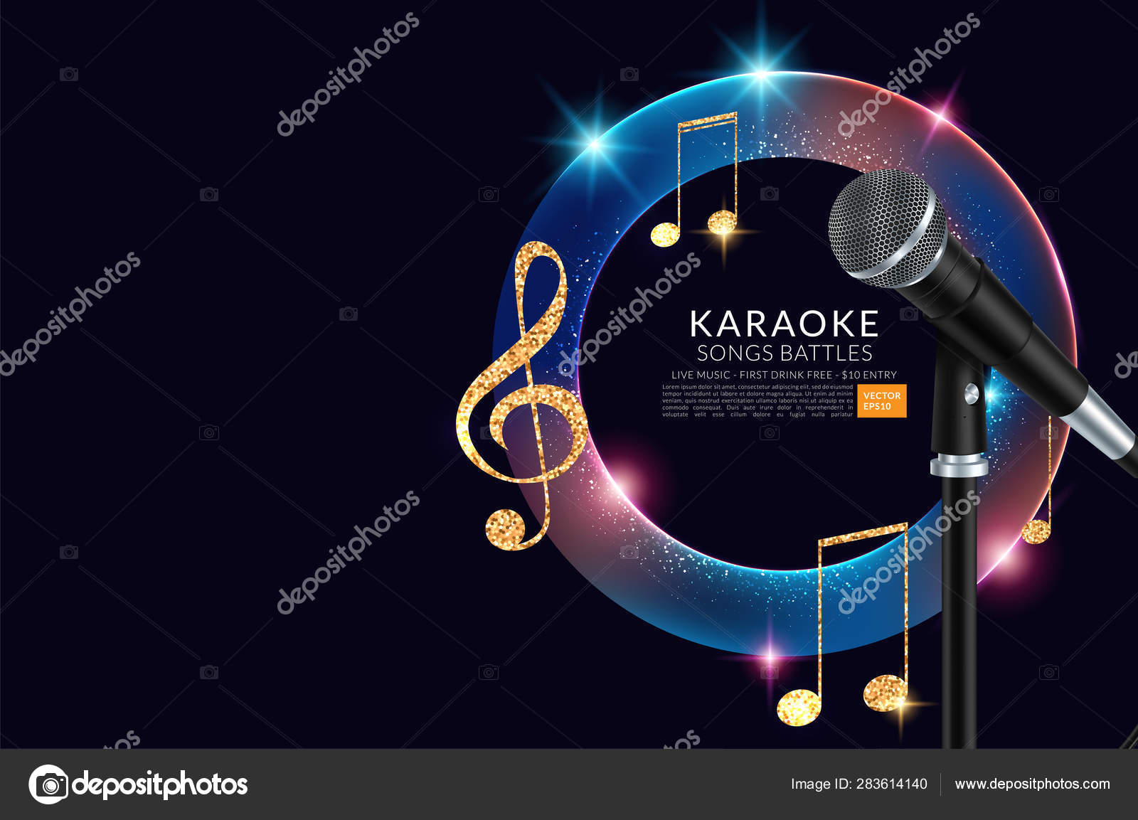 Plantilla De Folleto De Invitación De Fiesta De Karaoke