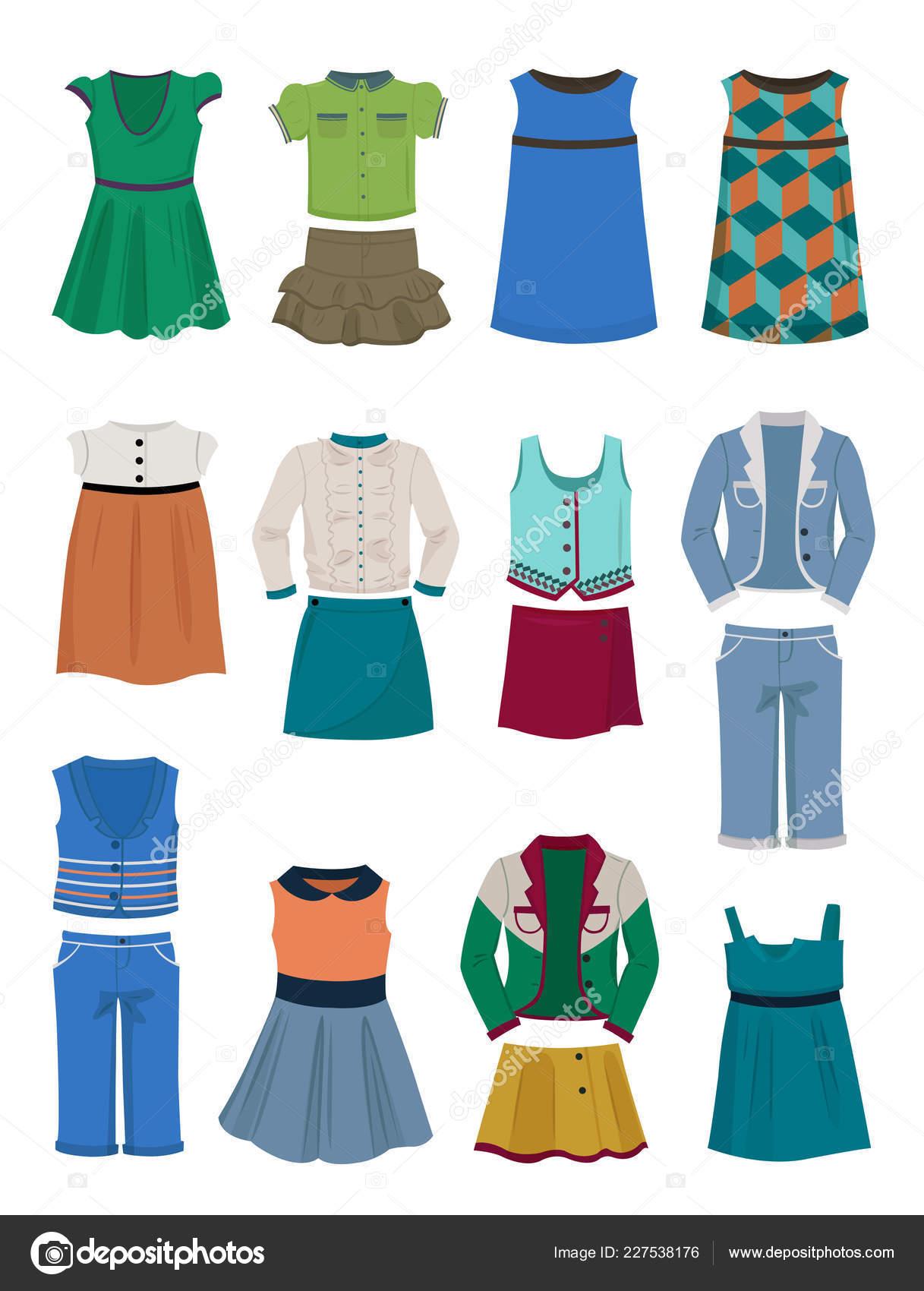341c50865 Conjunto Ropa Para Escuela Para Niñas Vestidos Blusas Trajes Faldas ...