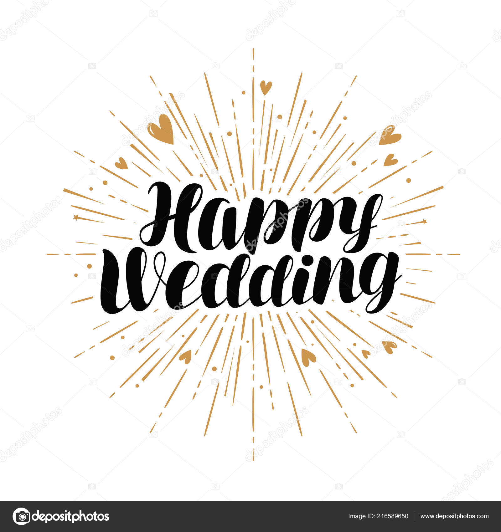 Happy Wedding Greeting Card Marriage Marry Banner