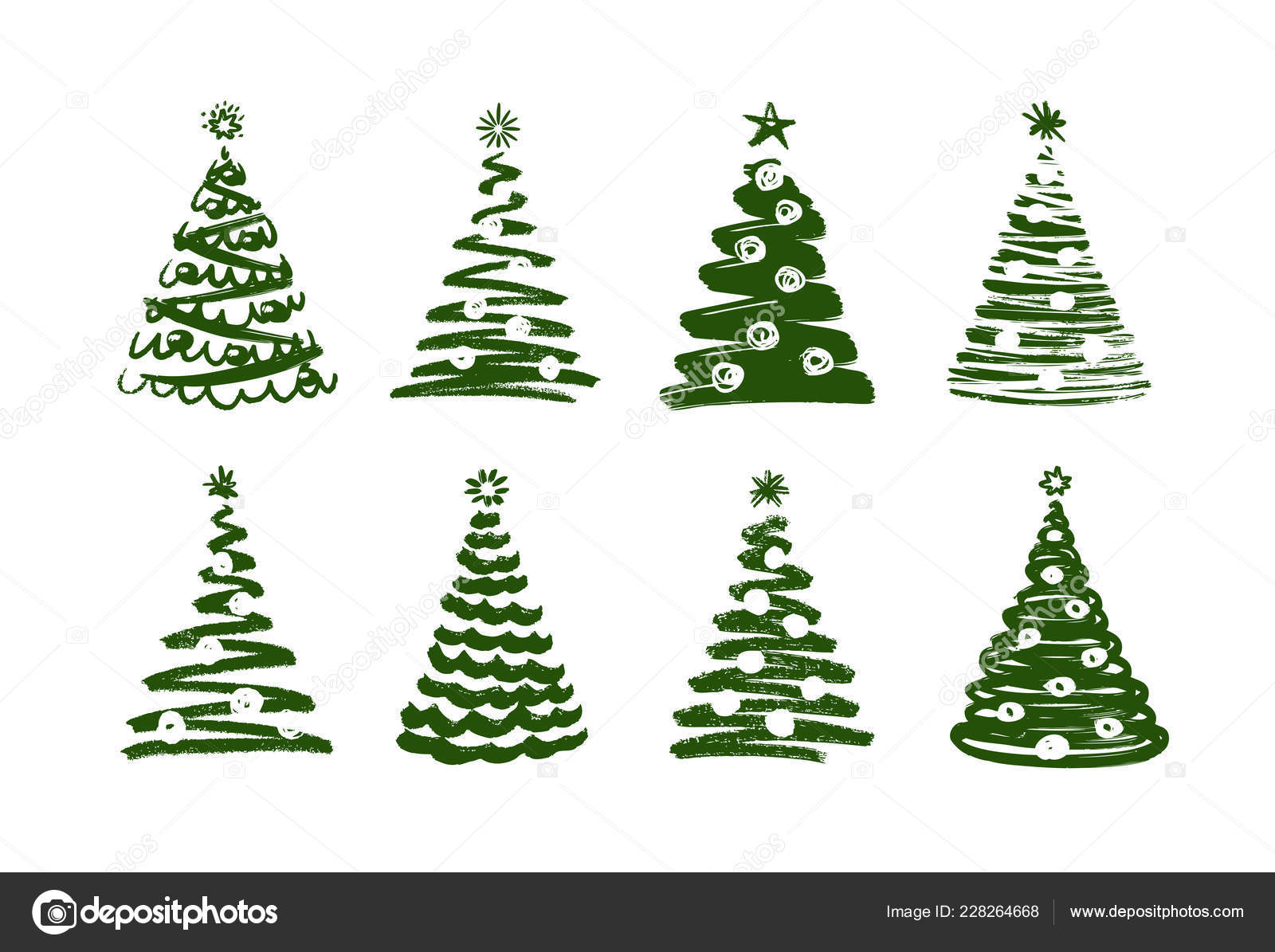 christmas tree abstract symbol new year xmas set of icons vector illustration stock vector c sergeypykhonin 228264668 https depositphotos com 228264668 stock illustration christmas tree abstract symbol new html