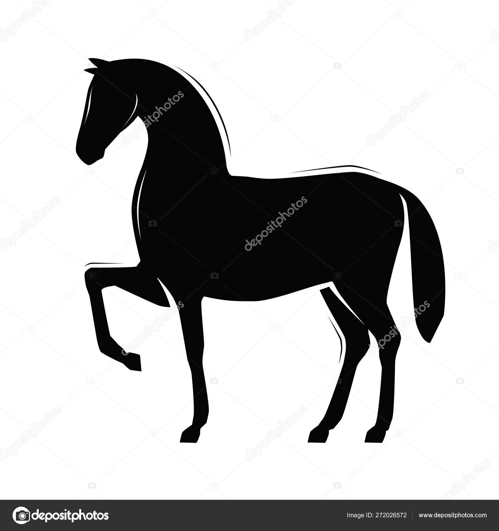 Horse Silhouette Racehorse Vector Illustration Isolated On White Background Stock Vector C Sergeypykhonin 272026572