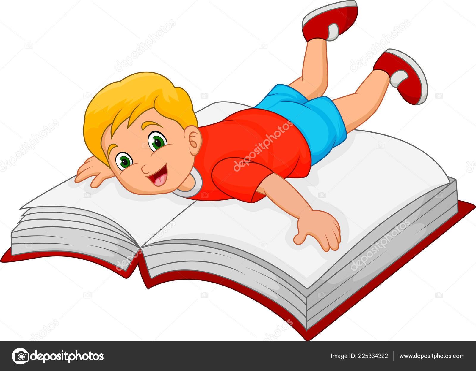 Petit Garcon Avec Gros Livre Dessin Anime Image